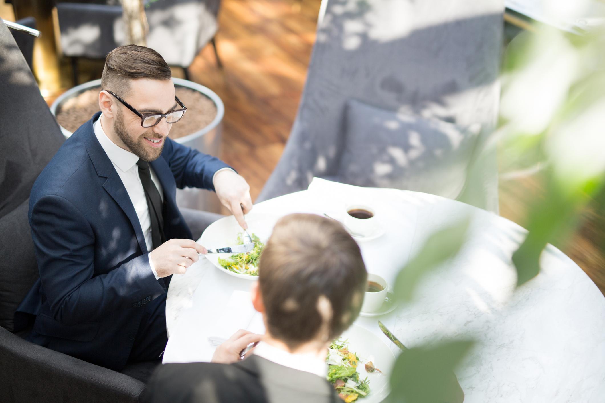 Lunch of businessmen